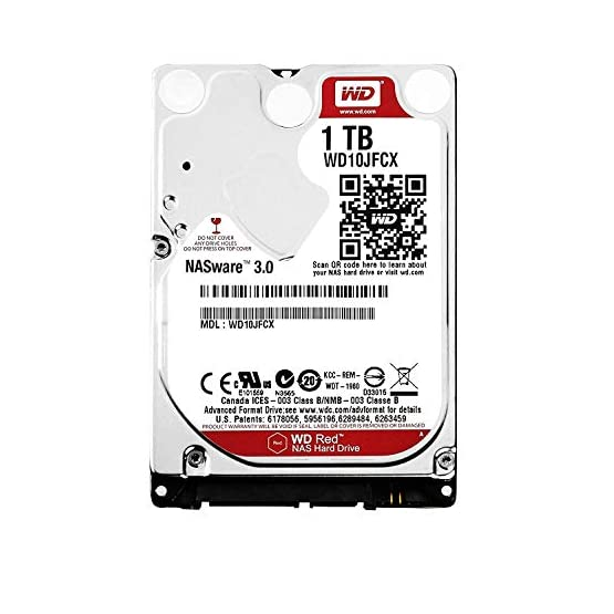 """WD Red 1TB NAS Internal Hard Drive - 5400 RPM Class, SATA 6 Gb/s, CMR, 16 MB Cache, 2.5"""" - WD10JFCX 4156gDSssqL. SS555"""