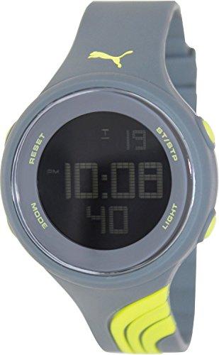 Puma Men's Twist PU911091004 Grey Silicone Quartz Watch with Digital Dial