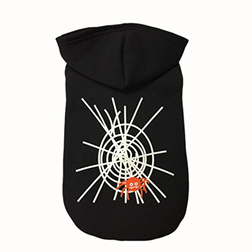 Puppy Clothes Halloween Spider Web Cool Cute Dog Pet Sweater Costume (XL, (Halloween Story Web)