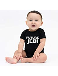 SeniorMar Newborn Infant Baby Girl Boy Romper with Trendy Letters Printing for Summer Short Sleeves O-Neck T-Shirt Bodysuit Playsuit - Black for 3-6 Months