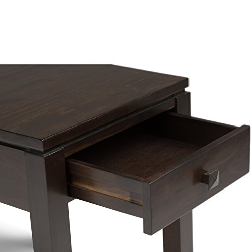 Simpli Home Cosmopolitan Solid Wood End Table, Coffee Brown by Simpli Home (Image #3)