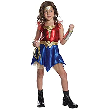 Imagine by Rubies Batman v Superman Wonder Woman Deluxe Dress-Up Costume Small  sc 1 st  Amazon.com & Amazon.com: Super DC Heroes Wonder Woman Childu0027s Costume Medium ...