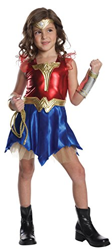 Halloween Wonder Deluxe Costume Woman Kids (Imagine by Rubies Wonder Woman Deluxe Dress-Up)