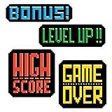 8 Bit Action Sign Cutouts-4 Per Unit