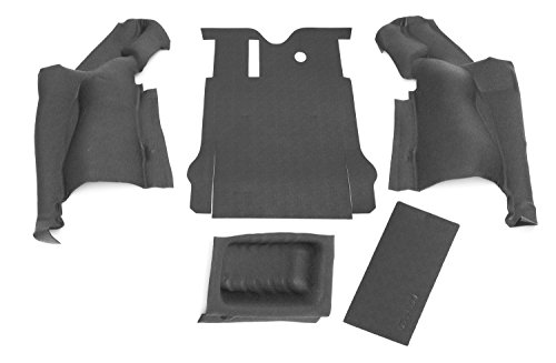Carpet 2 Piece Door Panel - BedRug Jeep Kit - BedTred BTJK11R2 fits 11+ JK 2DR REAR 5PC CARGO KIT (INCLUDES TAILGATE & TUB LINER)