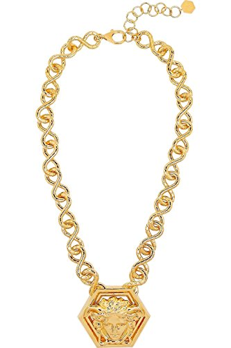 Versace by Haas Brothers Large Medusa Pendant Necklace, One Size, Gold Tone