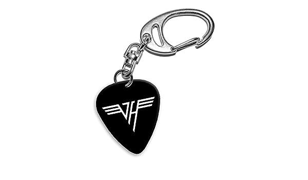 Van Halen Band Logo Llavero de púa de guitarra (H): Amazon.es ...