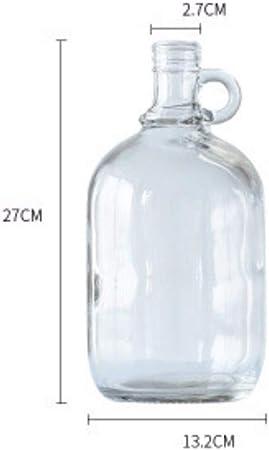 GYK Boutique Florero de Cristal nórdico decoración Botella de ...