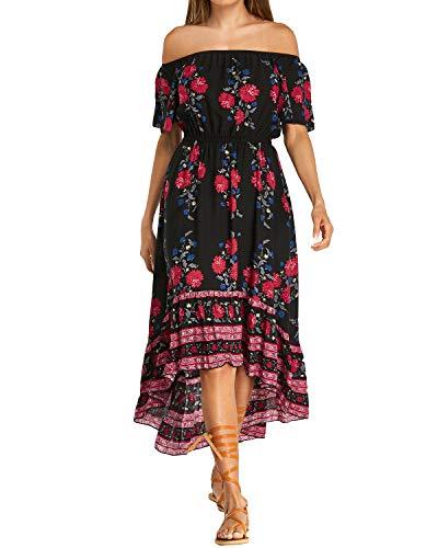 Avec V Femme Tunique Longue Plage noir Poches Kidsform Decontractée Manche Robe Taille Courte Grande qRvUt7