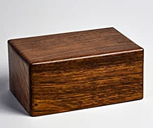 Wooden Urns for Human Ashes Adult by STAR INDIA CRAFT - Dark Brown INDIAN Rosewood Cremation Urns, Pet Urn for Dog Ashes, Keepsake Urns (6 x 4 x 2.75 Inches)