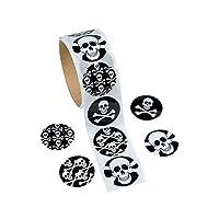 Fun Express Skull and Crossbones Sticker Roll