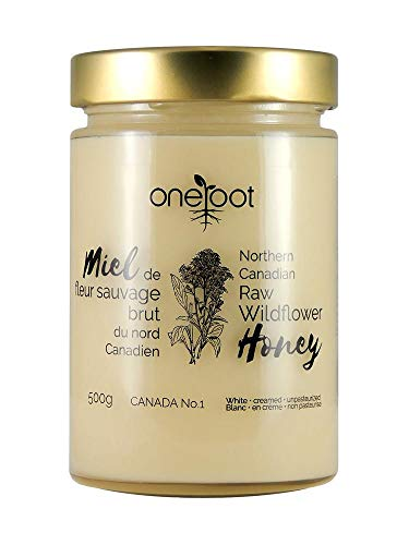 Oneroot Organic Natural Raw Canadian Wildflower Honey 17.6 Ounce (500gram) (WILDFLOWER)