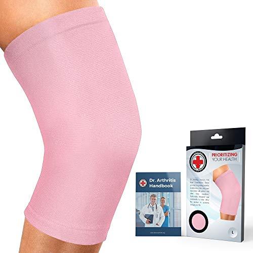 Dr. Arthritis Knee Sleeve/Knee Compression Sleeve/Knee Support Sleeve (Pink, 4XL)