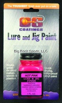 Component Systems Vinyl Lure and Jig Paint, Hot Pink (Jig Fishing Lure Paint)