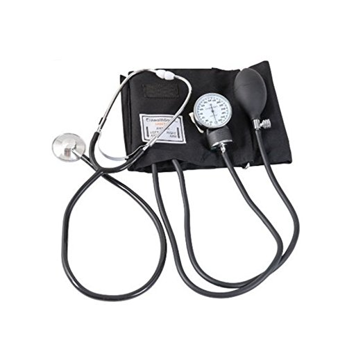 Manual Adult Size Deluxe Aneroid Sphygmomanometer - Professional Blood Pressure BP Monitor with Adult Cuff Set Sphygmomanometer Stethoscope Kit and Carrying Zipper case FDA by None (Image #7)
