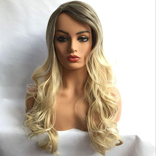 Wig Medium Long Curly Hair Wig Big Wave Matt Fluffy High Temperature Silk European And American Fashion Royal Sister COS Wig