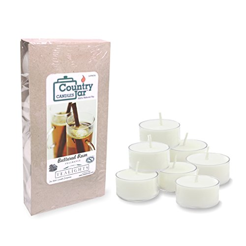 Country Jar Buttered Rum Soy Tea Light Candles (8-Pack/.75 oz. ea.) Spring Pick-3 Sale! See Details.