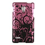 Dream Wireless CALGP769PPBKSW Slim and Stylish Design Case for the LG Optimus L9/P769 – Retail Packaging – Purple/Black Swirl