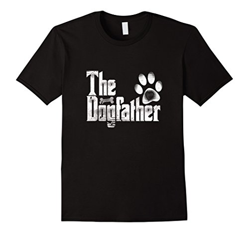 Golden Retriever Rescue (Mens The Dogfather T-Shirt | Dog Dad Funny| Father's Day Gifts XL Black)