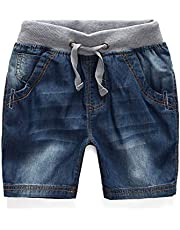 Elonglin Toddler Baby Boys Girls Denim Shorts Kids Casual Fashion Straight Stretch Summer Capris Cropped Denim Jeans Shorts