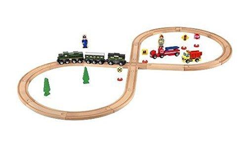 Lionel Classic 32 Piece Wooden Train Set Lionel Wooden Trains