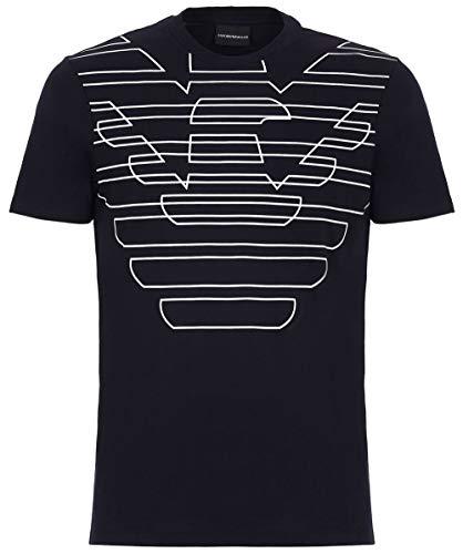 Emporio Armani Mens Round Neck T Shirt 3G1T69 1J19Z Size M Blue