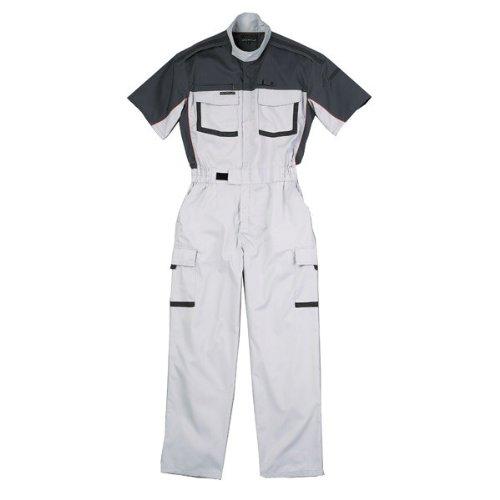 kurehifuku(クレヒフク)半袖つなぎ ピットスーツ カジュアル 半袖ツナギ kr-kr903 B01MSDKA2G M|シルバーグレー シルバーグレー M