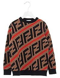 Fendi Boys Jmg051a8l7f0uz4 Brown Wool Sweater