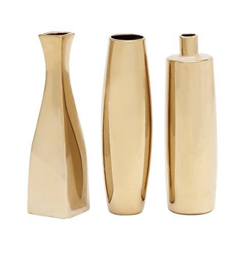 Deco 79 92556 Ceramic Vase, 3 Assorted, 12