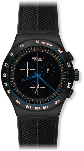 Swatch Men's YOB103 Stainless Steel Black Dial Chronograph - Store Swatch Online