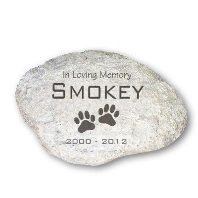 GiftsForYouNow Engraved Pet Memorial Garden Stone, 11'W, Durable, Waterproof, Indoor/Outdoor
