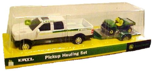 - Pickup Hauling Set - One Set: White Pickup with Trailer and Bonus Vehicle
