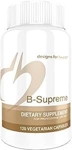 Designs for Health - B-Supreme - Coenzymated B Complex + Active Folate + TMG + Choline, 120 Capsules