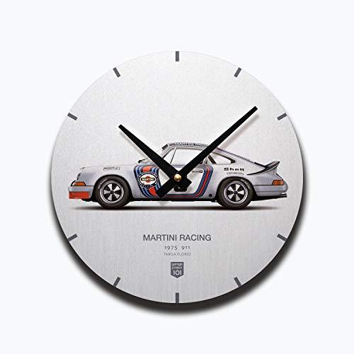 GarageProject101 1973 Martini Racing (Targa Florio) Illustration Wall Clock