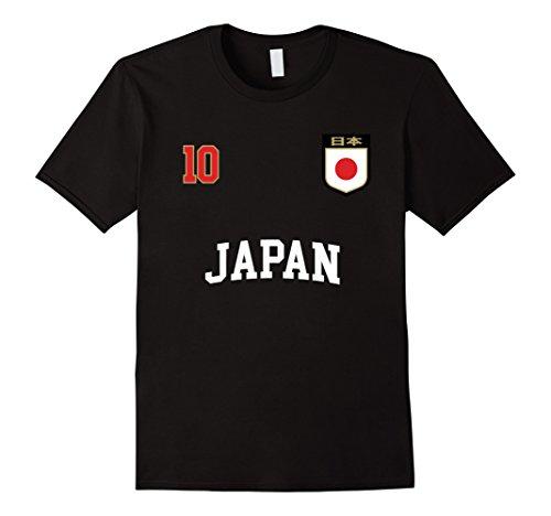 (Japan Soccer Team Shirt 10 Retro Japanese Flag Shirt Nihon)