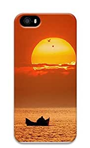 iPhone 5 5S Case Boating Sunset 3D Custom iPhone 5 5S Case Cover