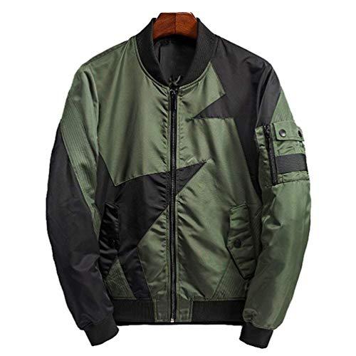 MediumVert Zip Ma1 Bomber Oudan Blouson Harrington Bombardier CoatcoloréNoirTaille Jacket Mens Vintage Avec OkiPZTXu