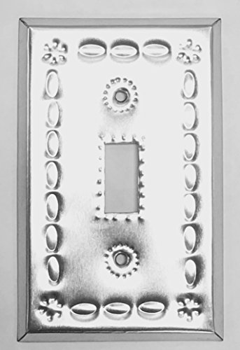 Tin Single Switchplate - Tin Single Toggle Switch Plate Cover Shiny Beveled S-1-T