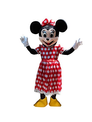 Mickey Mouse and Minnie Mouse Adult Mascot Costume Fancy Dress Outfit (Minnie Mouse)]()