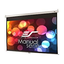 Elite Screens Manual Series 120 Inch 16 9 Pull Down Manual Projector Screen With Auto Lock Movie Home Theater 8k 4k Ultra Hd 3d Ready 2 Year Warranty M120xwh2