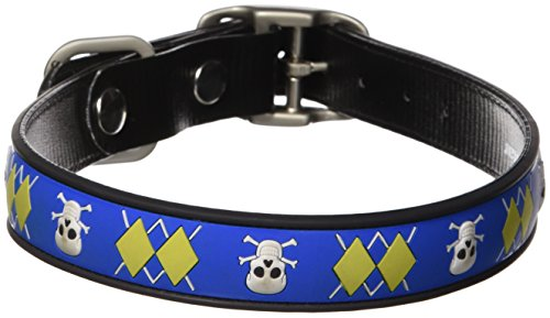Dublin Dog Co All Style No Stink Arrrgyle Dog Collar, Mutiny, 17 by 21.5-Inch, Large