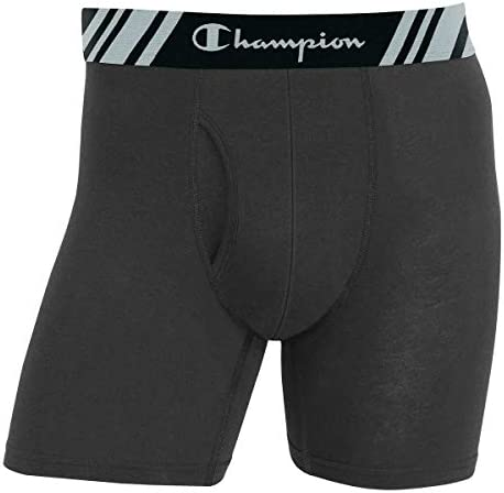 New 6 Value Pack Large, Grey Champion Mens 6 Pack Smart Temp Boxer Brief