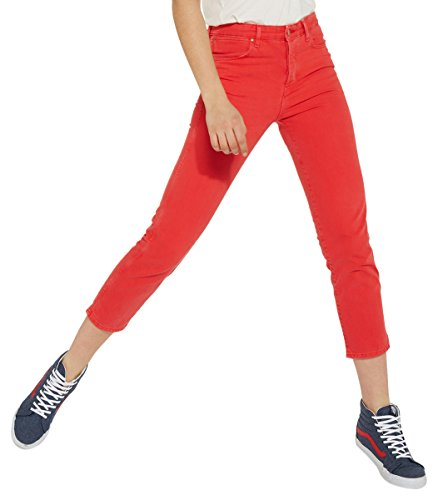 Wrangler Cropped Straight, Jeans Rectos para Mujer Rojo (Red 3k)