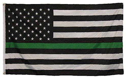 AES 3x5 3'x5' USA American Thin Green Line Border Patrol Fla