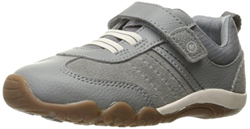 (Stride Rite Boys' SRTech Prescott Sneaker, Grey, 6.5 Medium US Toddler)