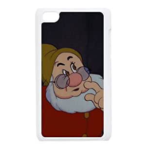 iPod Touch 4 Case White Disney Snow White and the Seven Dwarfs Character Happy Ghmw