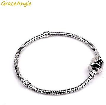 Kamas 1PC Alloy Link Chain DIY Fashion Women Men Bracelet Bangle Anklet Twinket Jewelry Findings High End Accessory 18-20cm Color: 1, Size: 20cm