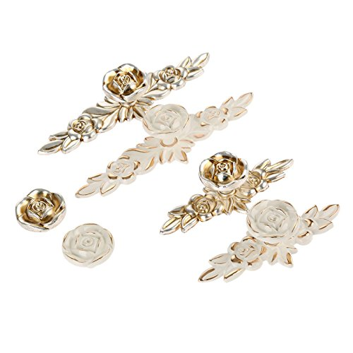 Choubao European Style Kitchen Furniture Cabinet Hardware Classic Rose Flower Shape Drawer Handle Pull Knobs - 10pcs by Choubao (Image #8)
