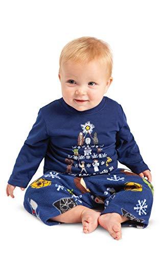 PajamaGram Infant Christmas Pajamas Fun - Star Wars, Dark Blue, Unisex Baby, 18M -