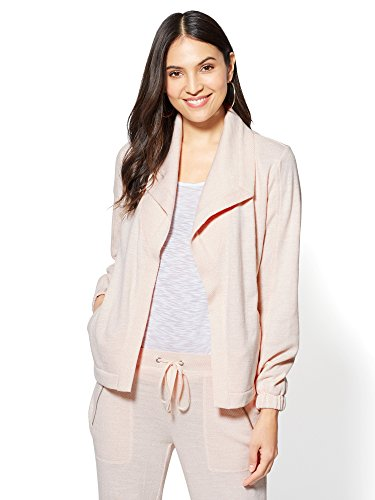 new york and company pink coat - 1